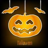 nietoperze gręplują Halloween bani wektor Fotografia Stock