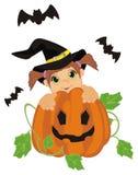 Nietoperze i czarownica ilustracja wektor