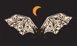 Nietoperze latają za nocy przy ilustracji
