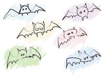 nietoperze rysujący wręczają szybkiego Zdjęcie Stock