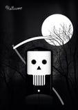 nietoperzy Halloween księżyc sceny drzewa Obraz Stock