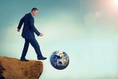 Nietrwałego biznesowego pojęcia globalny środowiskowy zniszczenie zdjęcia royalty free