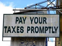 Niets is bepaald behalve Dood en Belastingen. Stock Foto