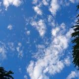 Niets dan blauwe hemel royalty-vrije stock afbeelding