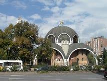Nietypowy kościelny budynek w Skopie, Macedonia zdjęcie stock