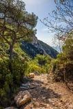 Nietzsche ścieżka Eze wioska w Francja Zdjęcie Royalty Free
