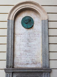 Nietzsche memorial plaque in Turin Royalty Free Stock Image