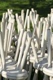 Nieużywani drewniani krzesła Zdjęcia Royalty Free