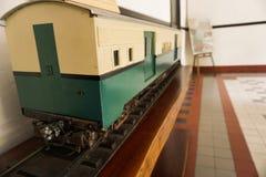 Nieużywany stary pociąg przy muzealną fotografią brać w Semarang Indonezja Zdjęcia Royalty Free