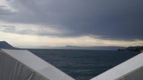 Nieuchwytny burz chmur nieba deszcz Zdjęcia Stock