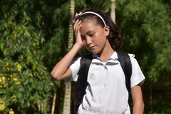 Nieudany dziewczyna uczeń zdjęcia stock