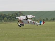 Nieuport 17双翼飞机 免版税库存图片