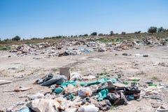 Nieupoważniony śmieciarski usyp obrazy stock