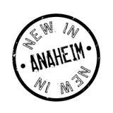 Nieuw in Anaheim rubberzegel Stock Foto
