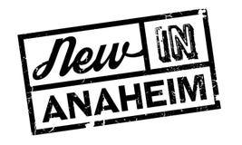 Nieuw in Anaheim rubberzegel Stock Foto's
