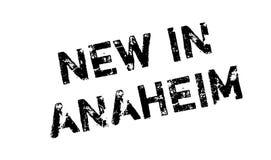 Nieuw in Anaheim rubberzegel Stock Afbeeldingen