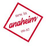 Nieuw in Anaheim rubberzegel Royalty-vrije Stock Foto's
