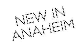 Nieuw in Anaheim rubberzegel Royalty-vrije Stock Afbeelding