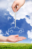 Nieuw autoconcept. Royalty-vrije Stock Afbeelding