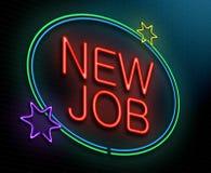 Nieuw baanconcept. Stock Foto