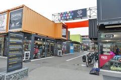 Nieuw begin of Re: BEGINwandelgalerij, het openlucht kleinhandels ruimte bestaan uit winkels en opslag in verschepende containers Royalty-vrije Stock Afbeeldingen