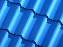 Blauw dakwerk van metaalplaat Royalty-vrije Stock Foto's