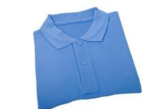Nieuw blauw overhemd stock foto's