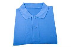 Nieuw blauw overhemd Royalty-vrije Stock Foto's