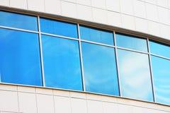 Nieuw blauw venster Stock Foto