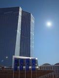 Nieuw bouw van Seat van de Europese Centrale Bank Stock Afbeelding