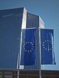 Nieuw bouw van Seat van de Europese Centrale Bank Royalty-vrije Stock Foto's