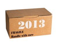 Nieuw breekbaar jaar 2013 -, zorvuldig Stock Fotografie