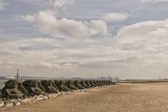 Nieuw Brighton Sea Defences royalty-vrije stock foto