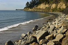 Nieuw Brighton State Beach en Kampeerterrein, Capitola, Californië Stock Foto's