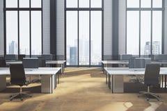 Nieuw coworking bureaubinnenland Stock Afbeelding