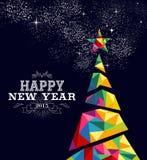 Nieuw de afficheontwerp van de jaar 2015 boom Stock Afbeeldingen