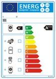 Nieuw de grafieketiket van de energieclassificatie vector illustratie