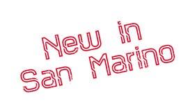 Nieuw in de rubberzegel van San Marino Stock Afbeeldingen