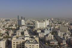 Nieuw de stad in van Amman abdaligebied - Jordan Amman-stad - Mening van moderne gebouwen in Amman Royalty-vrije Stock Foto's