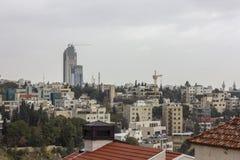 Nieuw de stad in van Amman abdaligebied - Jordan Amman-stad - Mening van moderne gebouwen in Amman Stock Foto's