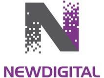 Nieuw Digitaal embleem stock illustratie