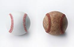 Nieuw en oud honkbal Stock Fotografie