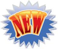 Nieuw etiket Royalty-vrije Stock Afbeeldingen