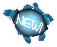 Nieuw etiket - Gat in het blad van document vector illustratie