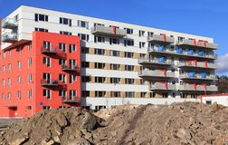 Nieuw flatgebouw, Praag Stock Fotografie