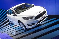 Nieuw Ford Focus op vertoning royalty-vrije stock afbeeldingen