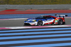 Nieuw Ford GT op Paul Ricard High Tech Test Royalty-vrije Stock Foto