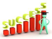 Nieuw gediplomeerd succes Stock Foto's