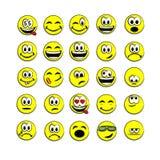 Geel vectorglimlachgezicht Royalty-vrije Stock Afbeeldingen