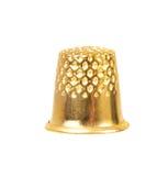 Gouden vingerhoedje stock afbeeldingen